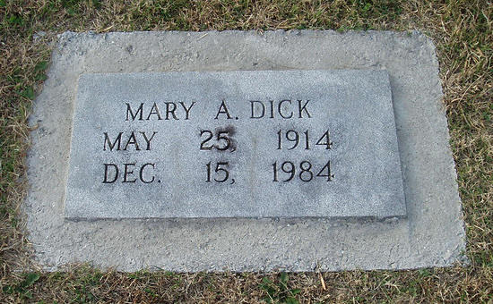 Dick, Mary A, 1914-1984