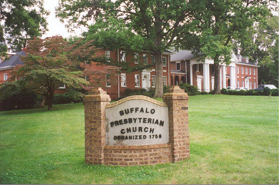 1 - Buffalo Presbyterian Church with marker