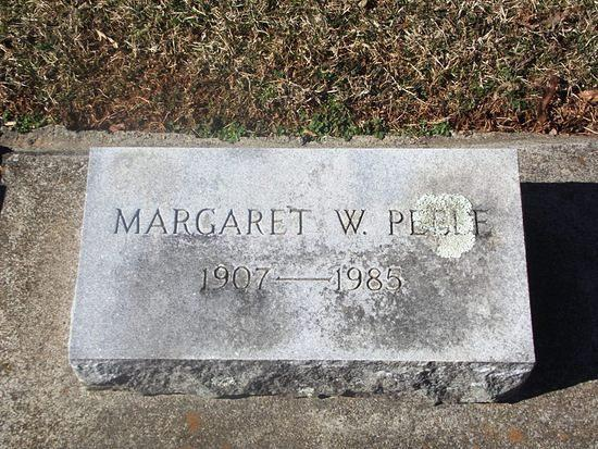 Peele, Margaret L Weakley, wife of Albert M Peele