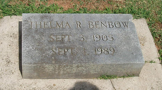 Benbow, Thelma Ritter, wife of Charles T. Benbow