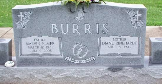 Burris, Marvin Elmer and Diane Rinehardt